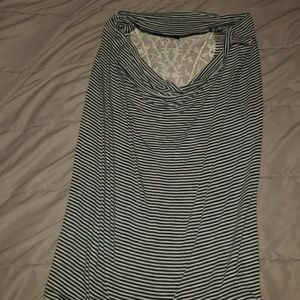 Sleeveless striped & lace top